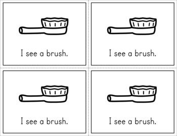 Predictable Sentences Mini Books - Short Vowel