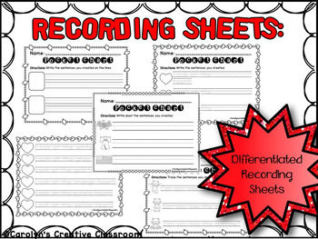 Predictable Sentences Pocket Chart Cards - February