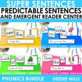 Predictable Sentences | Simple Sentences PHONICS  BUNDLE