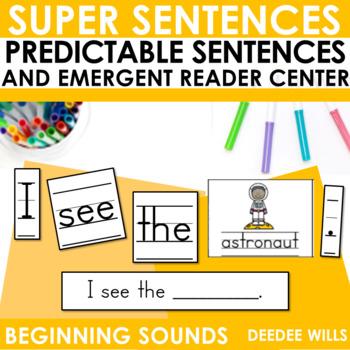 Predictable Sentences   Simple Sentences PHONICS  Beginning Sounds