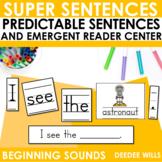 Predictable Sentences | Simple Sentences PHONICS  Beginnin