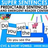 Predictable Sentences | Simple Sentences PHONICS  CVC and