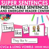 Predictable Sentences | Simple Sentences PHONICS  CVCe and