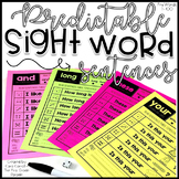 Predictable Sight Word Fluency Sentences - Fry Words 1-100