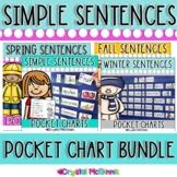 Predictable Sight Word Sentence Pocket Charts COMPLETE BUNDLE
