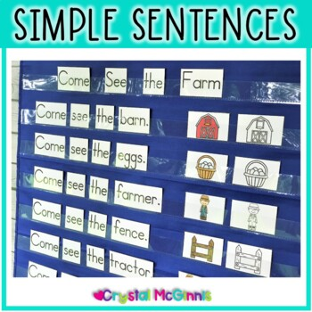 Predictable Sight Word Sentence Pocket Charts Literacy Center (10 Pocket Charts)