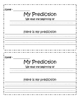 Predicting Before Reading Page