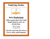 Predicting Chicken Beanie Baby Reading Strategy Poster