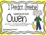 Predicting Freebie inspired by Owen by Kevin Henkes