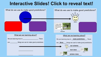 Predicting Lessons and Activities (PowerPoint)