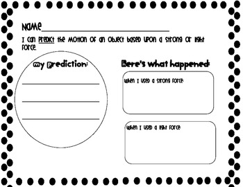 Predicting Motion in First Grade