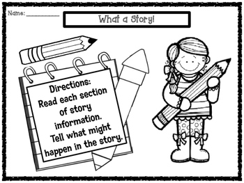 Predicting Outcomes Narrative Writing Story Starters for C