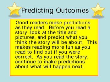 Predicting Outcomes Power Point Presentation