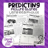 Predicting Picture Stories Worksheets Using Real Photos (no prep)