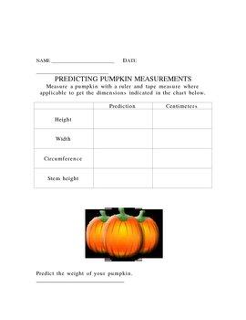 Predicting Pumpkin Measurements