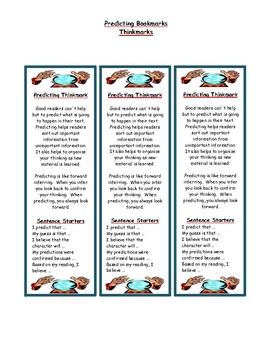 Predicting - Reading Comprehension Strategy Bookmark