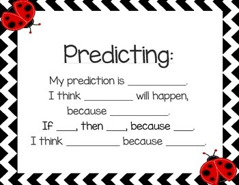 Predicting, Reflection, Questioning, Evidence & Conclusion