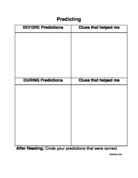 Predicting Strategy Graphic Organizer