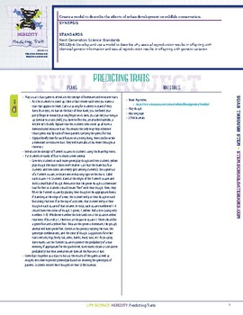 Predicting Traits - STEM Lesson Plan With Journal Page