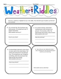 Predicting Weather Cloze and Riddles