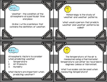 Predicting Weather Task Cards