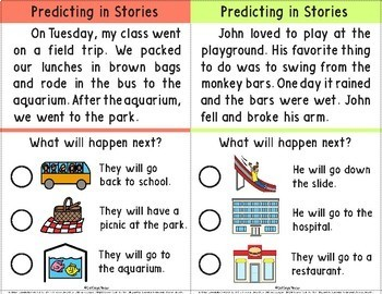 Predicting in Stories with Picture Choices; Reading