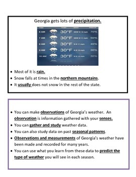 Predict the Weather BUNDLE 4th Grade Science