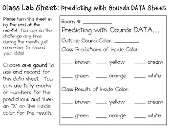 Predicting with Gourds ~ Monthly School-wide Science Challenge ~ STEM