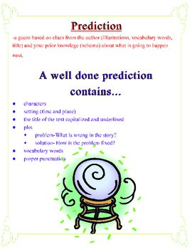Prediction Anchor Chart
