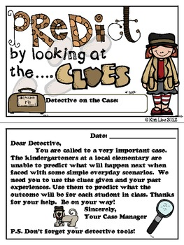Prediction Detectives on the Case Booklet