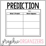 Prediction Graphic Organizers
