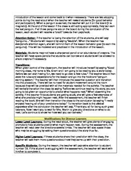 Prediction Lesson Plan -  2nd Grade