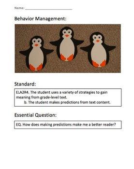 Prediction Activity Sheet -  2nd Grade