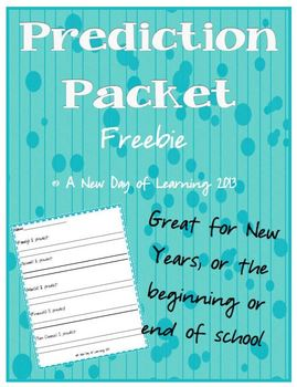 Prediction Packet - Great New Years or  Beginning or End of Year Activity
