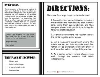 Prediction Task Cards – Practice with Scenarios
