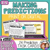 Making Predictions Task Cards and Google Slides for Making Inferences