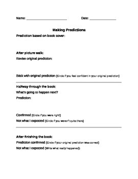 Prediction Worksheet