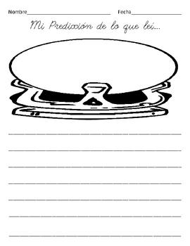 Prediction student response worksheet- SPANISH  lines