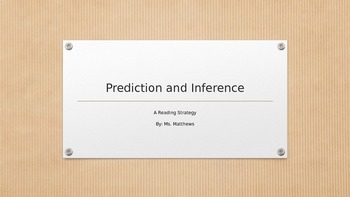 Prediction vs. Inference