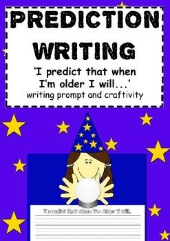 Prediction writing and craftivity