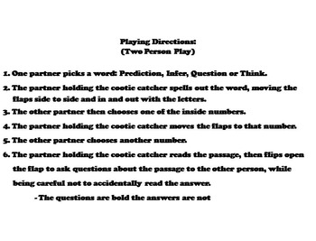 Making Predictions Activity 6th 5th 4th 3rd Grade Reading Comprehension Passages