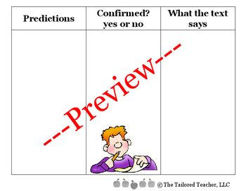 Predictions Graphic Organizer (Bilingual)