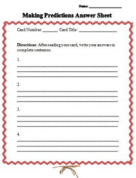 Predictions Guided Mini-Lessons and Literacy Center