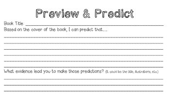 Predictions Mini Poster Set & Graphic Organizers