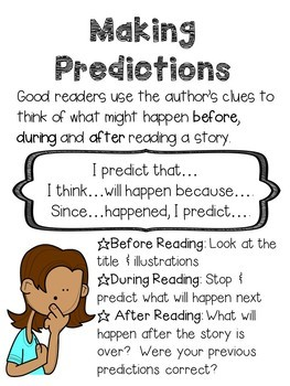 Predictions Mini Poster Set & Graphic Organizers