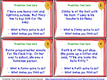 Predictions Task Cards Activity (32 cards)