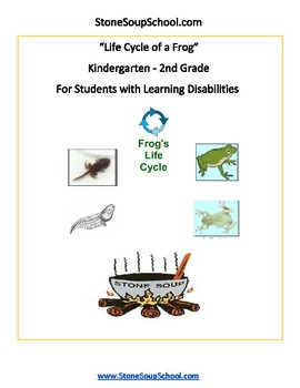K - 2 Life Cycle of Frog -  LD Learning Disabilities - Reading - Science