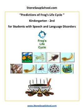 K - 2 Life Cycle of Frog- Speech and Language - Science