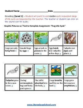 K - 2  Life Cycle of Frog  - Science - Reading