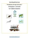 K-2 Life Cycle of Frog for Traditional Students - Science - Reading